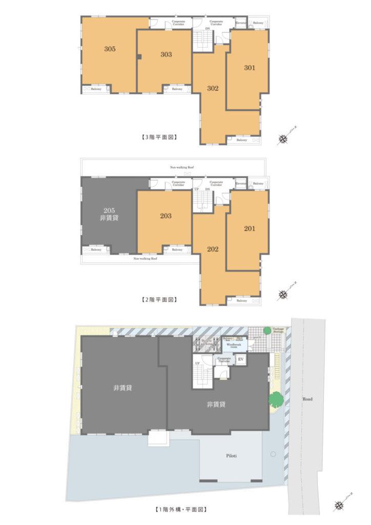 新宿区原町1丁目シャーメゾン_平面図