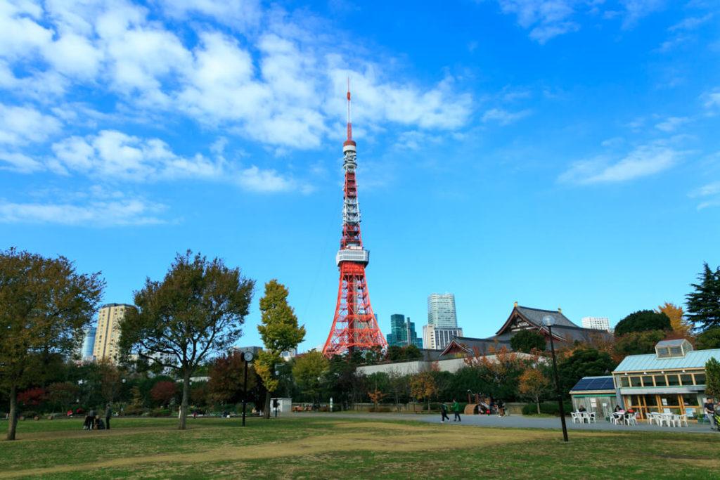 東京タワーと芝公園