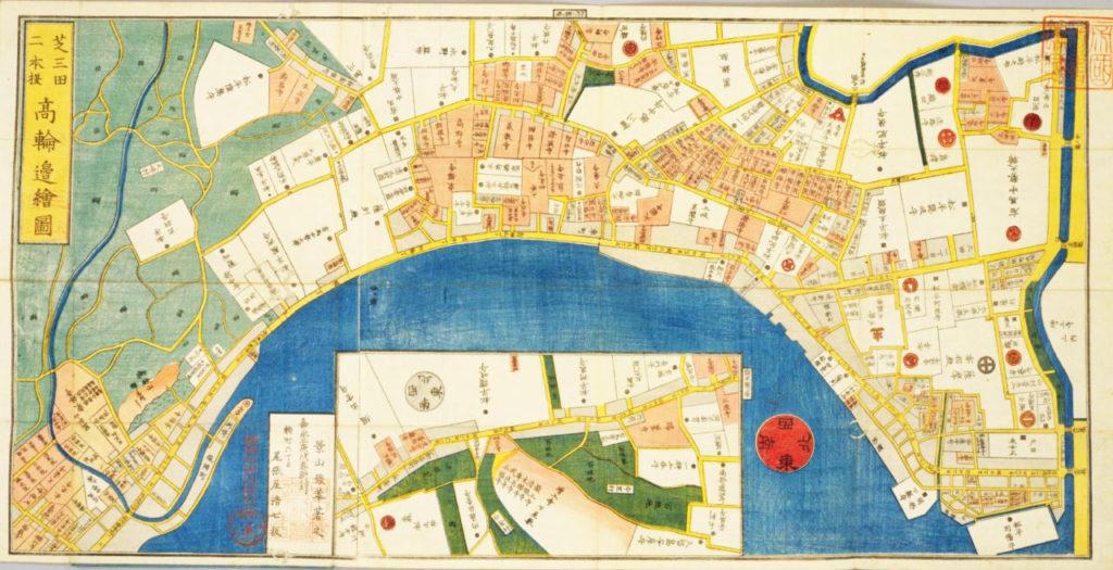 芝高輪古地図