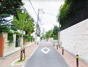 閑静な松濤の街並み