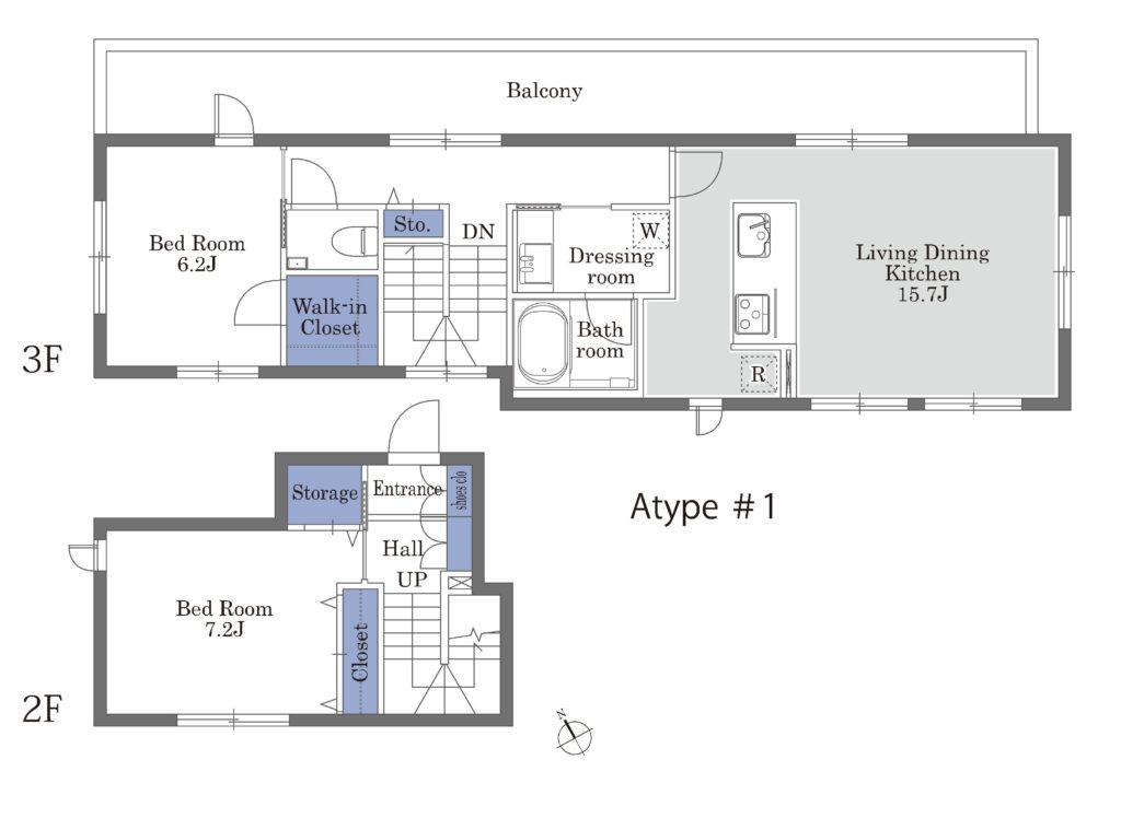 1号室(2-3F)Atype