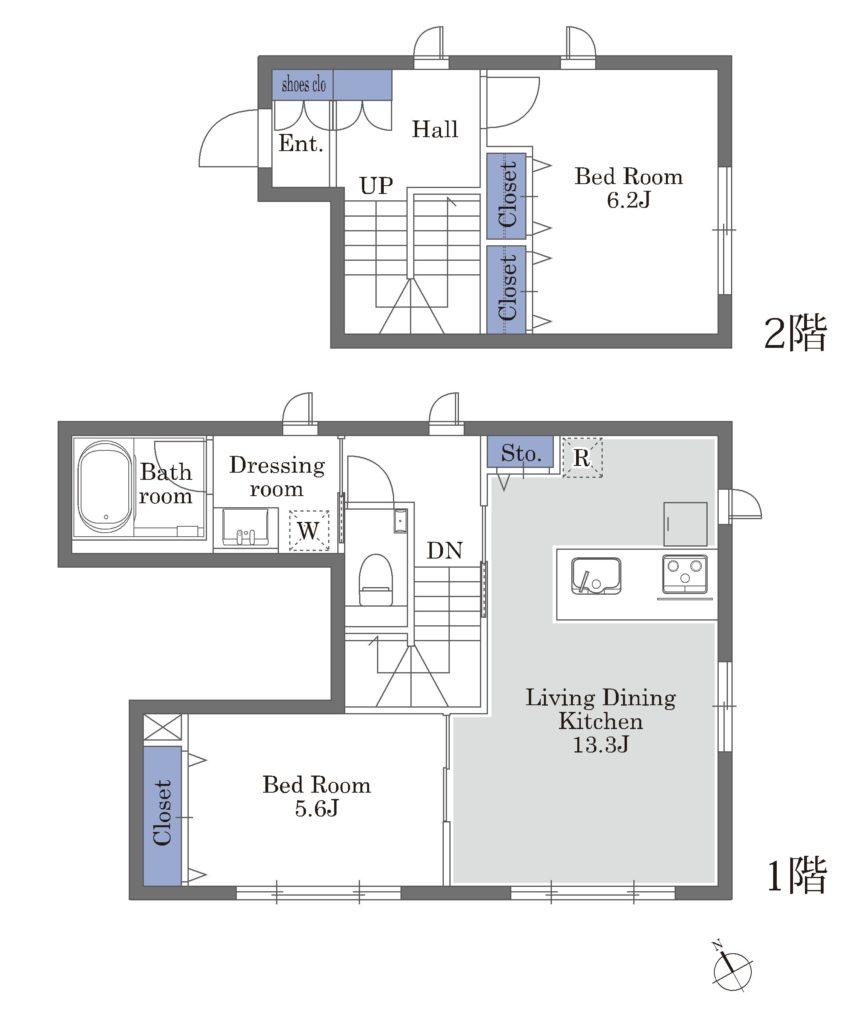 3号室(1-2F)Ctype